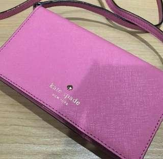 Kate Spade Sling Bag Purse Pink with auth Card
