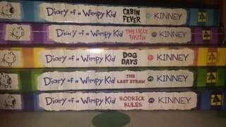 Diary of a Wimpy Kid 2-6 ONLY