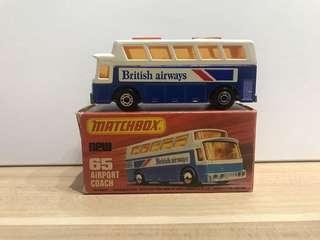 Matchbox 65 1977 British Airways Bus
