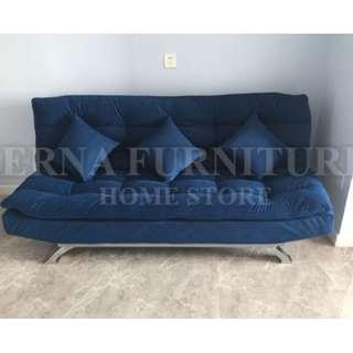 Fabric Sofa bed known as Amico sofa bed with 2 Cushions