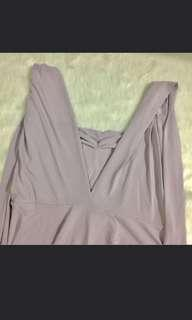 Light Gray Infinity Dress with Bag