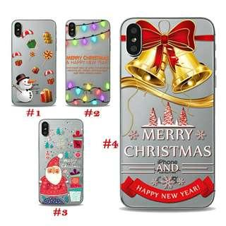 Christmas themed Case for iphone 5 5s 6 6s 7 8 plus X