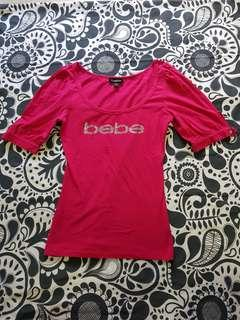 $30 FREE MAIL! Authentic Bebe Pink Low Cut Hot Pink Top