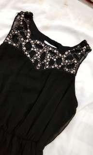 BLACK PARTY DRESS NEWLOOK BEADS