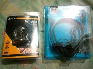 Web cam and headset