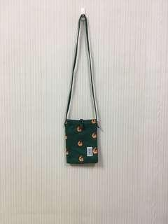 🚚 二手/帆布綠色蝦仁側背小包
