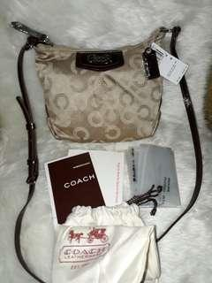 AUTHENTIC COACH 48048 ASHLEY SIGNATURE DOTTED OP ART SWINGBACK CROSSBODY