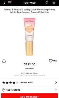 Too faced primed and peach primer