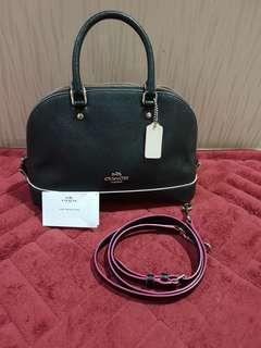 Authentic coach mini siera satchel multi eddepaint