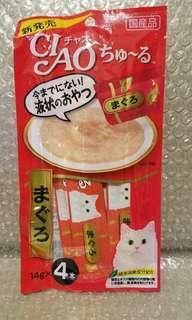 5.4 金槍魚肉 Ciao Churu 貓貓小食糊仔 零食 4條裝 14g x 4本入 日本製品