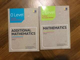 o level topical revision notes: mathematics and additional mathematics (amath)