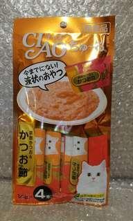 7.4 宗田產鰹魚x鰹魚乾粉末 Ciao Churu 貓貓小食糊仔 零食 4條裝 14g x 4本入 日本製品