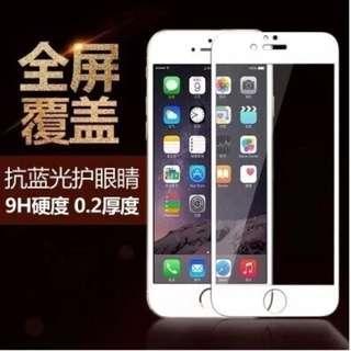 🚚 Apple Iphone6/6+/6S/6+s 9H 全屏鋼化膜玻璃2.5D弧邊/滿版/抗刮/硬度強