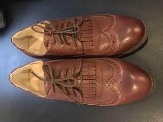 Brogues - shoes, chocolate brown, size 40 or 10