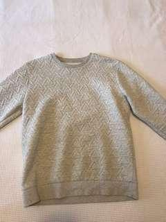 Men's grey sweater jumper