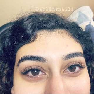 Hybrid eyelashes extensions
