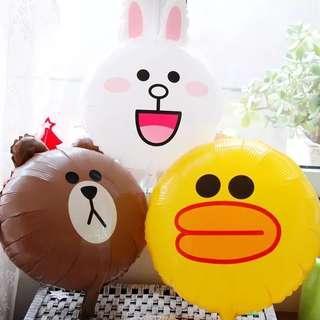 Line Friends18 吋 氣球 可充氦氣