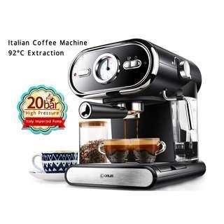 Italian Coffee Machine Semi-automatic Home Visualization Full Temperature Control 20BAR