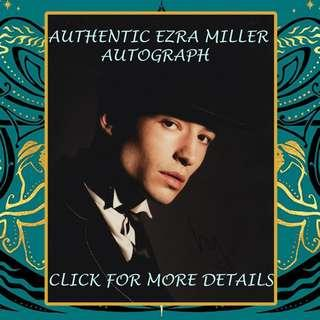 Authentic Ezra Miller Autograph from Fantastic Beasts Crimes of Grindelwald Premiere AFTAL RACC