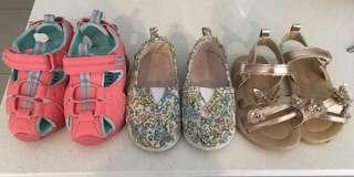 Girls shoes mixed size 5