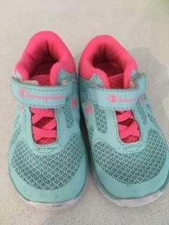 Baby girl champion shoes size 5