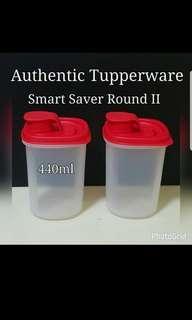 Instock Authentic Tupperware Smart Saver Round II 440ml (2) Retail Price S$18.90 last