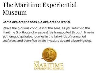 Maritime Experiential Museum (Bundle of 3 tickets)