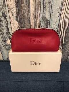 🚚 正品新品Dior迪奧限量正品防水防刮Logo紅色星星拉鍊化妝包