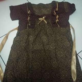 Jual baju batik bayi perempuan