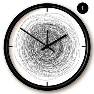 The Doodle Clock | Contemporary Metal Frame Wall Clock