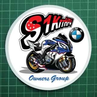 NOT FOR SALE - Custom Decals made for BMW Biker group :)