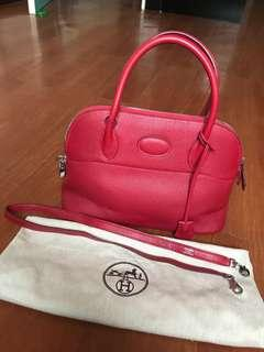 Hermes Bolide 31 rogue taurillon clemence phw with dustbag