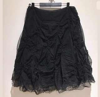 My Belle sz M/L women midi black tutu skirt bulky gothic costume petticoat Retro