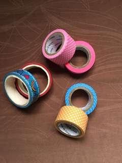 6 rolls of washi tape