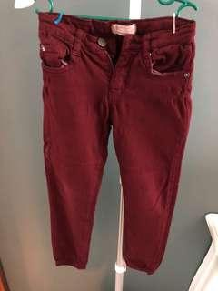 Sale Zara red jeans 5y