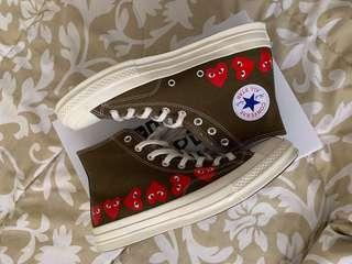 "CDG x converse ""olive"""