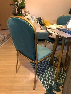 ⚜️Unique royal-like suede dining chair (1 only)
