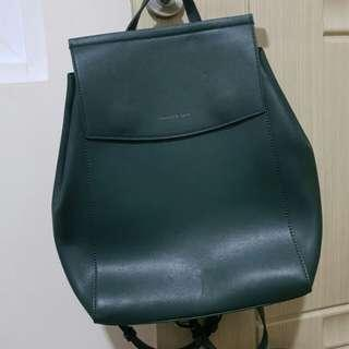 Two Way Backpack Charles & Keith Green ( Shoulder Bag / Ransel Hijau)