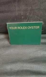 Rolex 書仔 全新