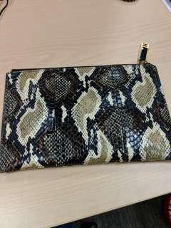 Fendi Python Envelope Clutch