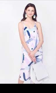 Fayth Palette Printed Slip Dress
