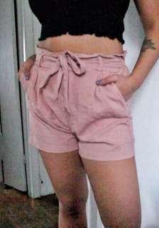 Large paperbag tie-up shorts