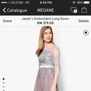 ZALORA JEWEL EMBROIDERED LONG GOWN #PayDay30
