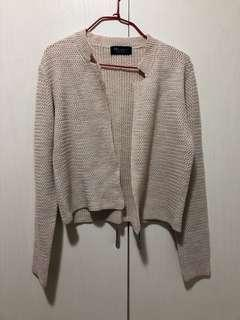 korean short cardigan size xs 杏色短身外套 #ladiesxmasgift