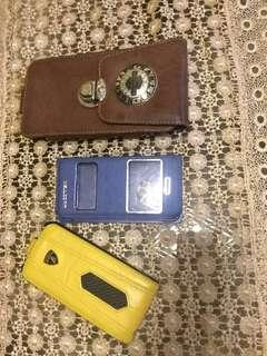 Case 2 case iphone 5 5s, 1 case leather