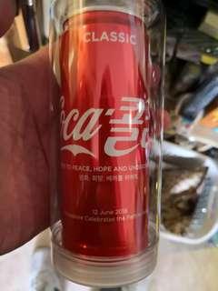 Coca cola singapore 特金罐紀念罐 連 保護罐
