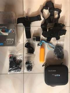 REPRICED!! GoPro Hero 4 Silver w/ Lots of Accessories and 32GB SanDisk Memory