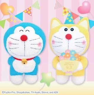 KOAOISORA 1月預訂 Doraemon & Original Doraemon - Happy Birthday  Big Plushy 2018 叮噹 ★47cm 多拉A夢 & 元祖叮噹 生日 景品公仔 (全新)