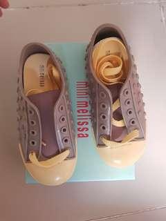BNEW Mini Melissa Polibolha s9 gray yellow sneakers kids