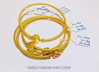 🚚 916 Gold Adult Bangle